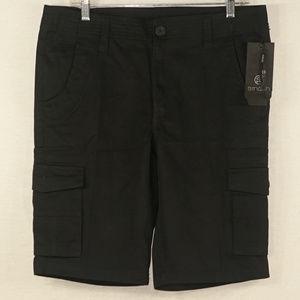 Smash NWT mens black cargo shorts 33